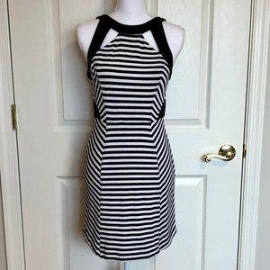 Ali Ro Black & White Striped Dress